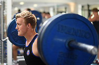 Jack Walker of Bath Rugby in the gym. Bath Rugby pre-season training on June 22, 2017 at Farleigh House in Bath, England. Photo by: Patrick Khachfe / Onside Images