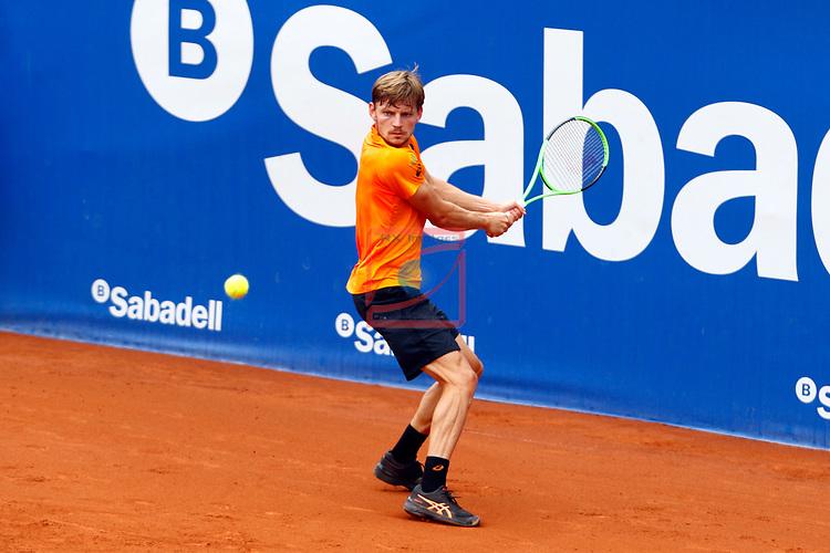 65e Trofeu Conde de Godo.<br /> Barcelona Open Banc Sabadell.<br /> David Goffin (BEL) vs Nikoloz Basilashvili (GEO): 7-5, 6-0.