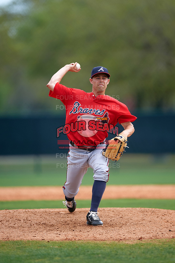 Atlanta Braves pitcher Rob Wooten (61) during an intrasquad Spring Training game on March 25, 2016 at ESPN Wide World of Sports Complex in Orlando, Florida.  (Mike Janes/Four Seam Images)