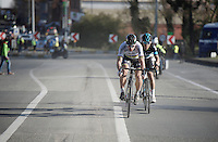 Peter Sagan (SVK/Tinkoff) & Michal Kwiatkowski (POL/SKY) put in a world champ TT to put more time between them and their chasers<br /> <br /> E3 - Harelbeke 2016