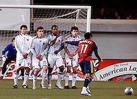 DC United's Jaime Moreno (99), Rod Dyachenko (15) Luciano Emilio (11), Devon McTavish (18) and Real Salt Lake's Javier Morales (11) in the Real Salt Lake 4-0 win over DC United at Rice-Eccles Stadium in Salt Lake City, Utah on April 12, 2008