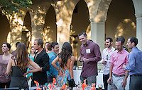 Alumni Reunion Weekend, Saturday, June 21, 2014. Class of 2004 dinner in the Booth Hall courtyard. (Photo by Marc Campos, Occidental College Photographer)