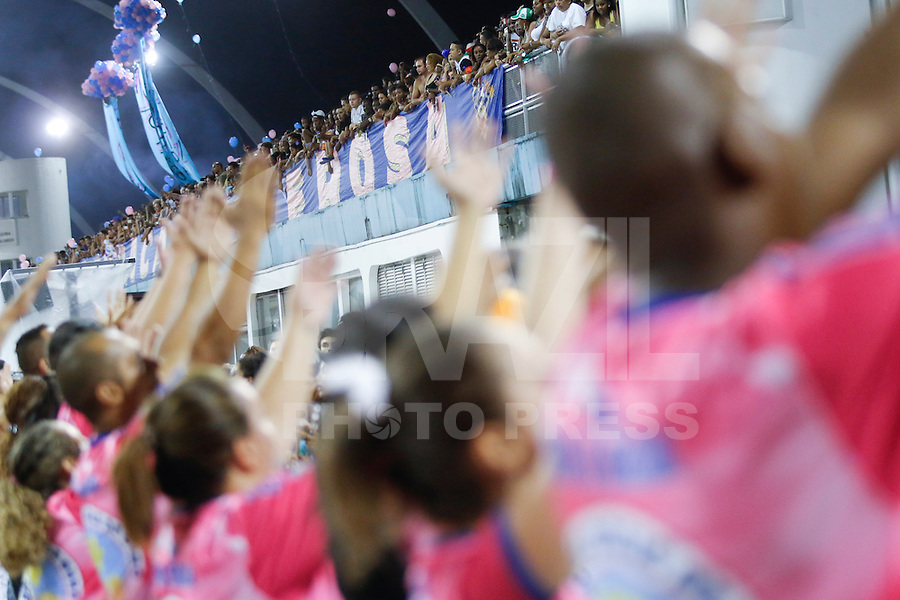 SAO PAULO 08 DE FEVEREIRO DE 2014 - ENSAIO TECNICO DAS ESCOLAS DE SAMBA - ROSAS DE OURO - A Escola de Samba Rosas de Ouro ensaiou no fim da tarde de hoje, 08, no Sambódromo, na cidade de São Paulo. foto: Paulo Fischer/Brazl Photo Press.