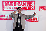 "19.04.2012. Presentation Photocall at the Hotel Villamagna in Madrid of ""American Pie. The Reunion"" with actors Jason Biggs (Jim), Sean William Scott (Stifler), Chris Klein (Oz), Mena Suvari (Heather), Eugene Levy (Jim's father) and Jennifer Coolidge (Stifler's Mother) and directors John Hurwitz and Hayden Schlossberg. In the picture: Jason Biggs (Alterphotos/Marta Gonzalez)"