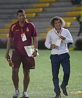 IBAGUÉ -COLOMBIA, 15-01-2015. Alberto Gamero técnico del Deportes Tolima gesticula durante partido de ida con Atlético Huila por la fecha 10 de la Liga Águila I 2016 jugado en el estadio Manuel Murillo Toro de Ibagué./ Alberto Gamero coach of Deportes Tolima gestures during first leg match against Atletico Huila for the date 10 of the Aguila League I 2016 played at Manuel Murillo Toro stadium in Ibague city. Photo: VizzorImage / Juan Carlos Escobar / Str