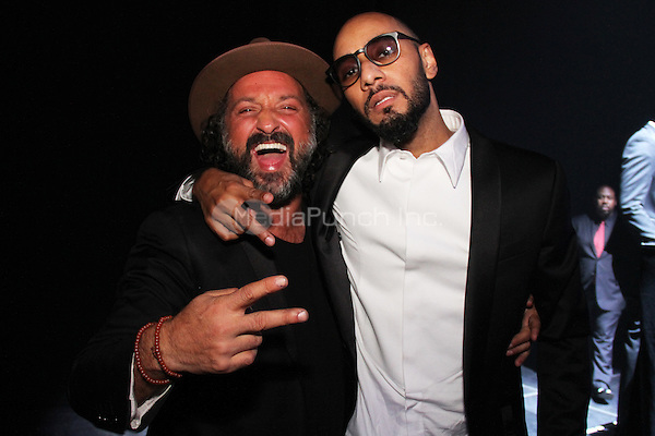 NEW YORK, NY - OCTOBER 30: Mr. Brainwash & Swizz Beatz attend the Keep A Child Alive 11th Annual Black Ball at the Hammerstein Ballroom, October 30th 2014 in New York City. Credit: Walik Goshorn/MediaPunch