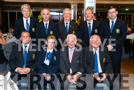 Pictured at the 40th Anniversary meal of the Kerry Branch of the Irish Referee Society at The Rose Hotel, Tralee on Saturday evening last, were front l-r: Paul O'Brien (President ISRS), Siobhan O'Mahony (Secretary Kerry Branch) Bill Attley (Referee co-ordinator of the ISRS) and Willie Long (Treasurer National ISRS). Back l-r: Kevin Cunningham (Vice chairman of the Kerry Branch), Owen Moynihan (Assistant Secretary of the Kerry Branch), TJ Grant (General secretary of the National ISRS), Seamus O'Mahony (Chairman Kerry Branch) and Brendan Kelly (Treasurer of the Kerry Branch).