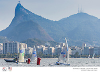 Windward mark<br /> Finn USA Caleb Paine USACP65<br /> Cristo Redentor, Corcovado <br /> <br /> 2016 Olympic Games <br /> Rio de Janeiro