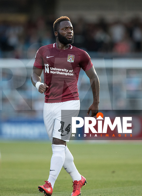 Junior Morias of Northampton Town vduring the Carabao Cup match between Wycombe Wanderers and Northampton Town at Adams Park, High Wycombe, England on 14 August 2018. Photo by Andy Rowland.