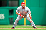 6 June 2010: Cincinnati Reds' outfielder Laynce Nix in action against the Washington Nationals at Nationals Park in Washington, DC. The Reds edged out the Nationals 5-4 in a ten inning game. Mandatory Credit: Ed Wolfstein Photo