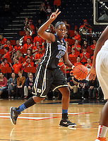 Duke guard Chelsea Gray (12) handles the ball during an NCAA college basketball game in Charlottesville, Va. Duke defeated Virginia 62-41...