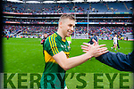 Peter Crowley, Kerry players after defeating Tyrone in the All Ireland Semi Final at Croke Park on Sunday.