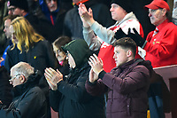 Fleetwood Town fans applaud their team at the final whistle <br /> <br /> Photographer Richard Martin-Roberts/CameraSport<br /> <br /> The EFL Sky Bet League One - Fleetwood Town v Coventry City - Tuesday 27th November 2018 - Highbury Stadium - Fleetwood<br /> <br /> World Copyright &not;&copy; 2018 CameraSport. All rights reserved. 43 Linden Ave. Countesthorpe. Leicester. England. LE8 5PG - Tel: +44 (0) 116 277 4147 - admin@camerasport.com - www.camerasport.com