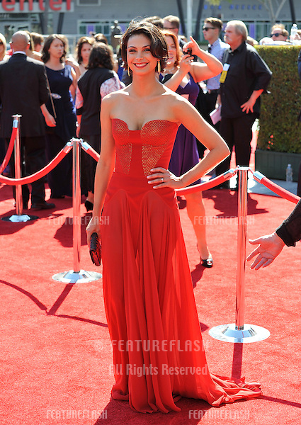 Morena Baccarin at the 2012 Primetime Creative Emmy Awards at the Nokia Theatre, LA Live..September 15, 2012  Los Angeles, CA.Picture: Paul Smith / Featureflash