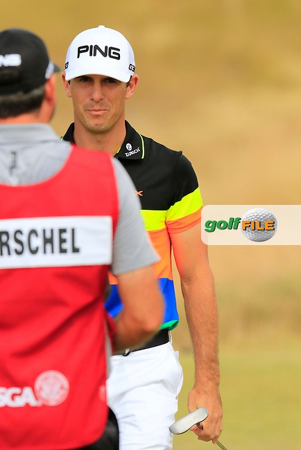 Billy HORSCHEL (USA) on the 15th green during Thursday's Round 1 of the 2015 U.S. Open 115th National Championship held at Chambers Bay, Seattle, Washington, USA. 6/19/2015.<br /> Picture: Golffile | Eoin Clarke<br /> <br /> <br /> <br /> <br /> All photo usage must carry mandatory copyright credit (&copy; Golffile | Eoin Clarke)