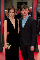 Dane DeHaan and Anna Wood arriving for the World Premiere of 'The Amazing Spider-Man 2' at Odeon Leicester Square, London. 10/04/2014 Picture by: Dave Norton / Featureflash