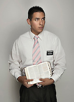Missionary and Mormon with the Church of Jesus Christ of Latter-day Saints, Elder Ivan Rodriguez (cq, age 21 from San Antonio, Texas) at Brigham Young University in Provo, Utah, Tuesday, October 2, 2012. ..Photo by Matt Nager