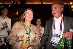 Engeland, London, 26 juli 2012.Olympische Spelen London.Opening Holland Heineken House.Charlene de Carvalho-Heineken en Andre Bolhuis
