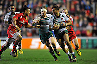 Peter Betham of Leicester Tigers goes on the attack. European Rugby Champions Cup match, between Leicester Tigers and Munster Rugby on December 20, 2015 at Welford Road in Leicester, England. Photo by: Patrick Khachfe / JMP