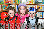 BOOK WORMS: Pupils from  Ballyduff Central National School taking part in Book Day on Thursday. .L/r. Kayle O'Connor, Kerrie Ross and Ethan O'Connor.   Copyright Kerry's Eye 2008