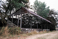Former stand at Cromer Town FC Football Ground, Cabbell Park, Cromer, Norfolk, pictured on 30th August 1995