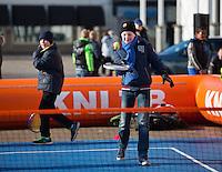 Februari 06, 2015, Apeldoorn, Omnisport, Fed Cup, Netherlands-Slovakia, Draw, Cityhall, streeftennis with <br /> Photo: Tennisimages/Henk Koster