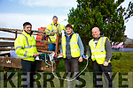 Staff of the Cahersiveen RSS installing the Christmas lights in Cahersiveen pictured here l-r; David O'Neill(RSS Supervisor), Noel Lynch, Charles Walsh & Dermot McGillicuddy(Denis Daly Building Contractors).