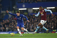Andreas Christensen of Chelsea in action during Chelsea vs Aston Villa, Premier League Football at Stamford Bridge on 4th December 2019