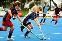 Action from girls' hockey match between St Peter's Cambridge and Mahurangi College during the AIMS games at Bay Arena in Mount Maunganui, New Zealand on Thursday, 14 September 2017. Photo: Dave Lintott / lintottphoto.co.nz