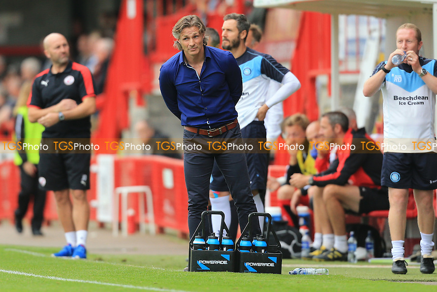 Wycombe Wanderers manager Gareth Ainsworth during Crawley Town vs Wycombe Wanderers, Sky Bet League 2 Football at Broadfield Stadium, Crawley, England on 29/08/2015