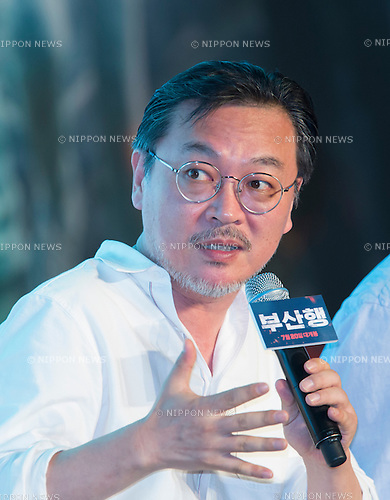 "Kim Ui-Seong, June 21, 2016 : South Korean actor Kim Ui-Seong attends a press conference for his new movie,""Train to Busan"" in Seoul, South Korea. The zombie-action movie was filmed by recognized animator, Yeon Sang-ho and was premiered at Cannes Film Festival in the out of competition ""Midnight Screenings"" category this year. (Photo by Lee Jae-Won/AFLO) (SOUTH KOREA)"
