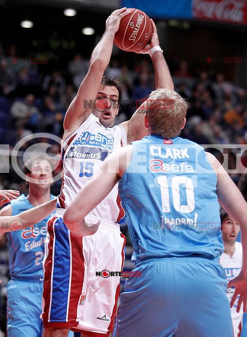 Blusens Monbus' Oriol Junyent during Liga Endesa ACB match.December 1,2012. (ALTERPHOTOS/Acero) /NortePhoto ©/NortePhoto /NortePhoto© /NortePhoto /NortePhoto