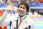 Katsuhiro Matsumoto (JPN), <br /> AUGUST 19, 2018 - Swimming : <br /> Men's 200m Freestyle Medal celemony <br /> at Gelora Bung Karno Aquatic Center <br /> during the 2018 Jakarta Palembang Asian Games <br /> in Jakarta, Indonesia. <br /> (Photo by Naoki Nishimura/AFLO SPORT)
