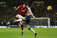 Victor Lindelof of Manchester United and Ben Davies of Tottenham Hotspur during Tottenham Hotspur vs Manchester United, Premier League Football at Wembley Stadium on 13th January 2019