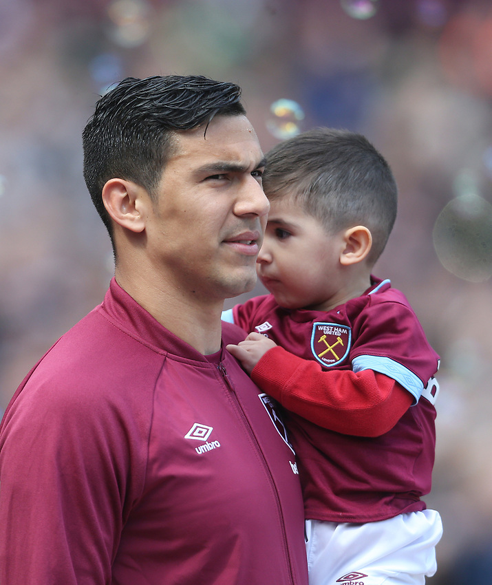 West Ham United's Fabian Balbuena<br /> <br /> Photographer Rob Newell/CameraSport<br /> <br /> The Premier League - West Ham United v Southampton - Saturday 4th May 2019 - London Stadium - London<br /> <br /> World Copyright © 2019 CameraSport. All rights reserved. 43 Linden Ave. Countesthorpe. Leicester. England. LE8 5PG - Tel: +44 (0) 116 277 4147 - admin@camerasport.com - www.camerasport.com