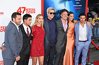 Chris J. Johnson, Santiago Segura, Claire Holt, Matthew Modine, Johannes Roberts, Mandy Moore &amp; Yani Gellman at the Los Angeles premiere for &quot;47 Meters Down&quot; at the Regency Village Theatre, Westwood. <br /> Los Angeles, USA 12 June  2017<br /> Picture: Paul Smith/Featureflash/SilverHub 0208 004 5359 sales@silverhubmedia.com