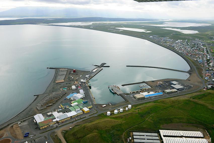 Sauðárkrókur séð til suðurs, Sveitarfelagið Skagafjarðar / Saudarkrokur viewing south, Sveitarfelagid Skagafjardar.