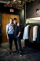 Victor and Sarah at Raleigh Denim.