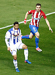 Atletico de Madrid's Saul Niguez (r) and Real Sociedad's Carlos Vela during La Liga match. April 4,2017. (ALTERPHOTOS/Acero)