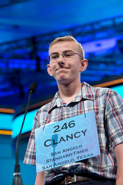 Speller 246 Clancy Dean Carter competes in the preliminary rounds of the Scripps National Spelling Bee at the Gaylord National Resort and Convention Center in National Habor, Md., on Wednesday,  May 30, 2012. Photo by Bill Clark