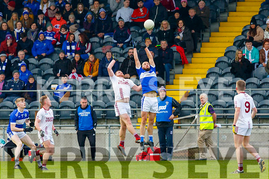Templenoe's Sean Sheehan  and St Brackan's Liam Tierney contest the kick out during the  Munster Intermediate Championship final  in Mallow on Sunday