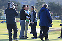Paul Casey (ENG) congratulates Phil Mickelson (USA) during the final round of the AT&T Pro-Am, Pebble Beach Golf Links, Monterey, USA. 11/02/2019<br /> Picture: Golffile | Phil Inglis<br /> <br /> <br /> All photo usage must carry mandatory copyright credit (© Golffile | Phil Inglis)