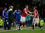 Phil Jones of Manchester United replaces Daley Blind of Manchester United - English Premier League - Manchester Utd vs Chelsea - Old Trafford Stadium - Manchester - England - 28th December 2015 - Picture Simon Bellis/Sportimage