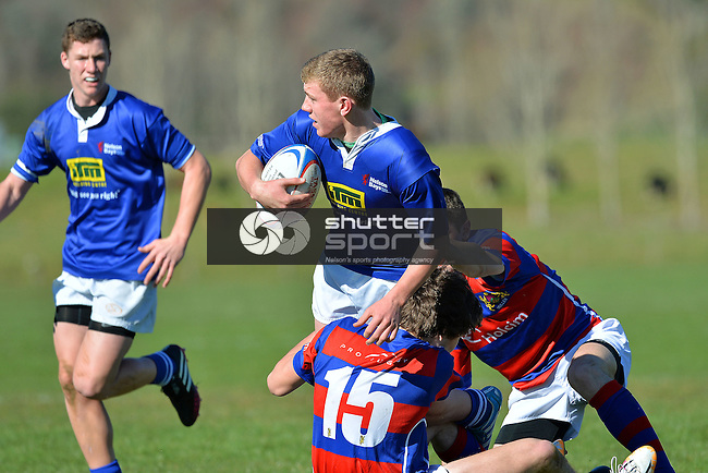 U15 Rep Rugby, Nelson v Buller, 24th August 2014, Murchison, Photo: Barry Whitnall / shuttersport.co.nz