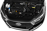 Car Stock 2015 Hyundai I40 Premium 5 Door Wagon Engine  high angle detail view