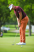 Ian Poulter (GBR) watches his putt on 2 during round 2 of the 2019 Charles Schwab Challenge, Colonial Country Club, Ft. Worth, Texas,  USA. 5/24/2019.<br /> Picture: Golffile   Ken Murray<br /> <br /> All photo usage must carry mandatory copyright credit (© Golffile   Ken Murray)