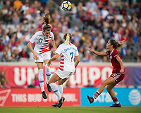 Jacksonville, FL - Thursday, April 05, 2018:  Tierna Davidson during a friendly match between USA and Mexico at EverBank Stadium.  USA defeated Mexico 4-1.