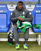 FUSSBALL   1. BUNDESLIGA   SAISON 2012/2013    19. SPIELTAG Hamburger SV - SV Werder Bremen                          27.01.2013 Joseph Akpala (SV Werder Bremen)