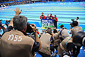 USA team group, <br /> AUGUST 13 2016 - Swimming : <br /> Men's 4x100m Medley Relay Medal Ceremony  <br /> at Olympic Aquatics Stadium <br /> during the Rio 2016 Olympic Games in Rio de Janeiro, Brazil. <br /> (Photo by Yohei Osada/AFLO SPORT)