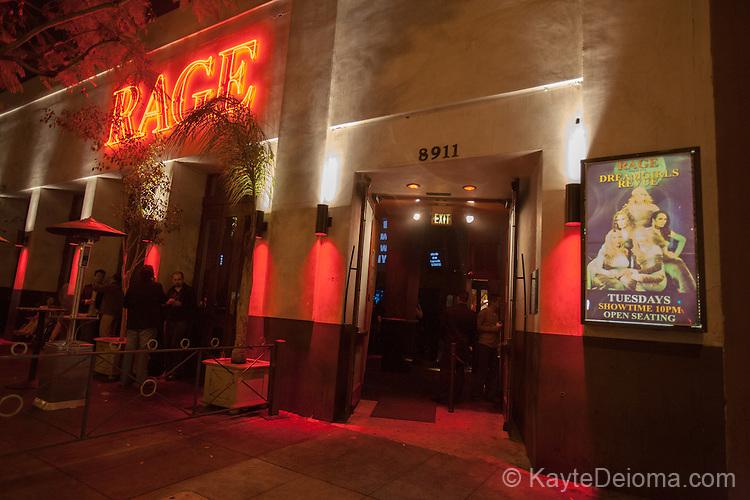 Rage Nightclub on Santa Moinca Boulevard in West Hollywood, CA